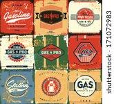 Collection Of Retro Gasoline...
