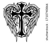 Christian Cross Wing Vector...