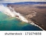 hot lava meets the ocean on the ...