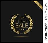 final sale golden laurel wreath ...   Shutterstock .eps vector #1710749626