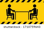 social distancing icon. keep... | Shutterstock .eps vector #1710759643
