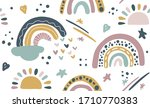 seamless vector pattern with... | Shutterstock .eps vector #1710770383