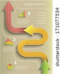infographic color arrows with... | Shutterstock .eps vector #171077534