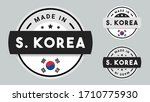 made in south korea collection... | Shutterstock .eps vector #1710775930