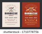 barbecue party vector flyer or... | Shutterstock .eps vector #1710778756