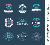summer holidays labels and... | Shutterstock .eps vector #1710784630