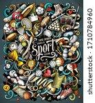sports hand drawn vector... | Shutterstock .eps vector #1710784960
