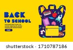 back to school sale banner ... | Shutterstock .eps vector #1710787186
