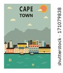 cape town. south africa. vector | Shutterstock .eps vector #171079838