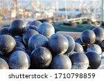 Scenery With Many Black Balls