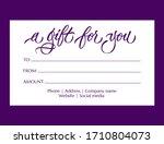 a gift for you   modern gift... | Shutterstock .eps vector #1710804073