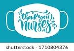 thank you nurses lettering... | Shutterstock .eps vector #1710804376