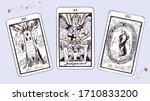 magic tarot deck vector...   Shutterstock .eps vector #1710833200