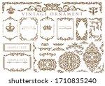 vintage floral ornament.... | Shutterstock .eps vector #1710835240