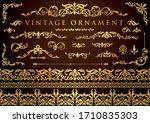 vintage floral ornament.... | Shutterstock .eps vector #1710835303