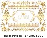 vintage floral ornament.... | Shutterstock .eps vector #1710835336