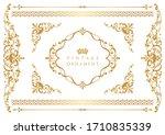 vintage floral ornament.... | Shutterstock .eps vector #1710835339