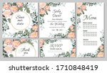 vector floral wedding... | Shutterstock .eps vector #1710848419