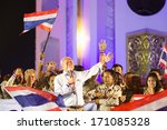 Small photo of Bangkok, Thailand - January 7, 2014: Mr. Suthep Thaugsuban and People's Democratic Reform Committee (PDRC) on January 7, 2014 at Ratchadamnoen stage, Democracy Monument, Bangkok, Thailand.