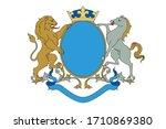 a coat of arms crest heraldic... | Shutterstock .eps vector #1710869380