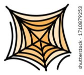 scary spider web icon. outline... | Shutterstock .eps vector #1710879253