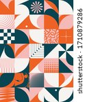 scandinavian inspired artwork... | Shutterstock .eps vector #1710879286