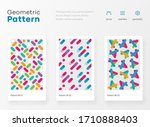 geometry pattern with simple... | Shutterstock .eps vector #1710888403