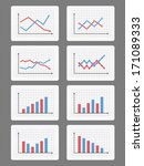 set of different graphs and... | Shutterstock .eps vector #171089333