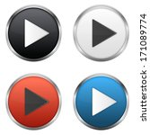 metallic play buttons set  ... | Shutterstock .eps vector #171089774