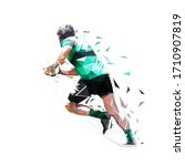 rugby player running with ball  ... | Shutterstock .eps vector #1710907819
