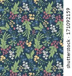 vintage floral seamless pattern ... | Shutterstock .eps vector #171092159