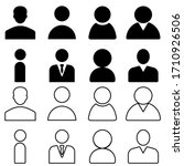 man vector icon set. person...   Shutterstock .eps vector #1710926506