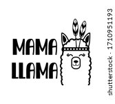 mama llama quote. abstract... | Shutterstock .eps vector #1710951193
