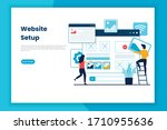 flat design website setup...   Shutterstock .eps vector #1710955636