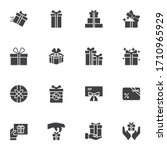 gift box vector icons set ... | Shutterstock .eps vector #1710965929