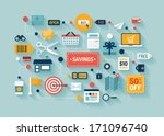 flat design vector stylish... | Shutterstock .eps vector #171096740