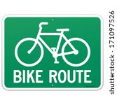 bicycle route sign | Shutterstock .eps vector #171097526