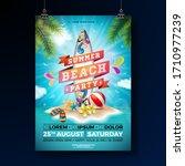 summer beach party flyer design ... | Shutterstock .eps vector #1710977239