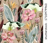 large flowers  inflorescences ...   Shutterstock .eps vector #1710979963