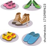 shoe footwear kids wear...   Shutterstock .eps vector #1710989623