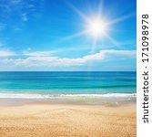 Beautiful Seascape And Sun On...