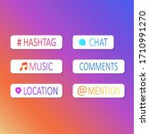 instagram social media stickers....