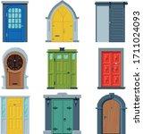 doors in vintage style... | Shutterstock .eps vector #1711024093
