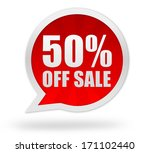 50 percent off sale | Shutterstock . vector #171102440