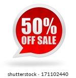 50 percent off sale | Shutterstock . vector #171102440