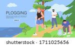 group of people running or... | Shutterstock .eps vector #1711025656