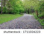 Stone Road Leading Through A...