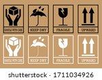 fragile box  cargo warning...   Shutterstock .eps vector #1711034926