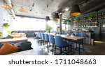 Empty Bar Counter Interior In...