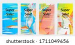 abstract multicolored shattered ... | Shutterstock .eps vector #1711049656
